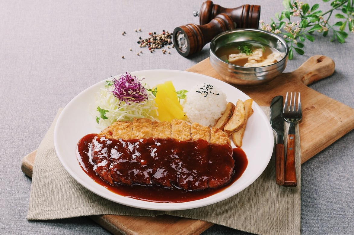 korean food donkatsu