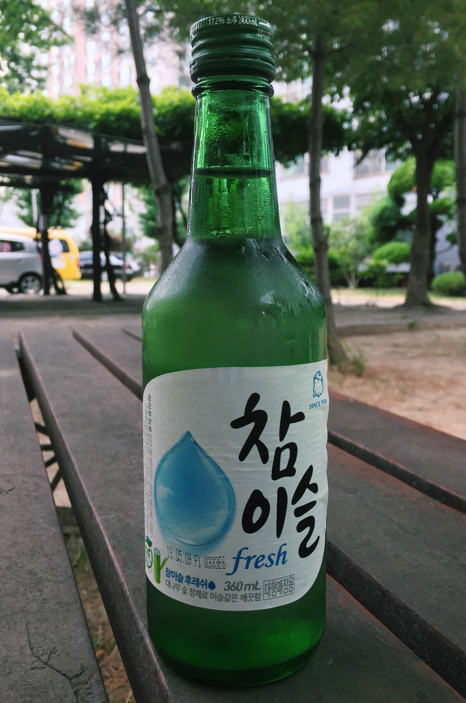fresh flavoured soju korea