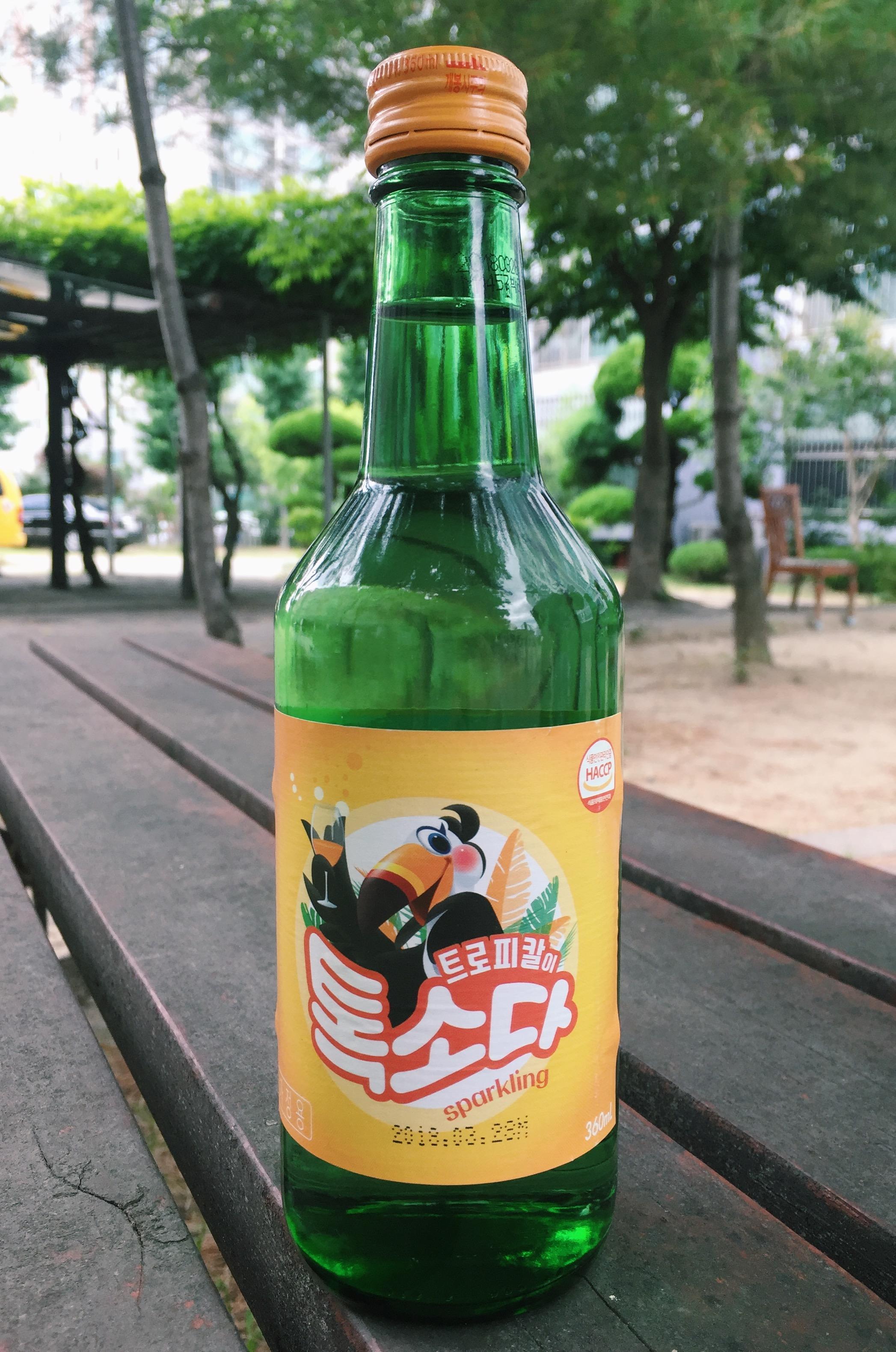 tropical flavoured soju korea