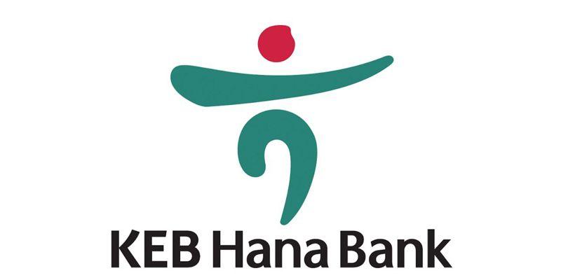 picture of korean keb hana bank logo